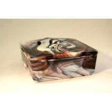 Marmorite box with lid by Lindeboom Gouda
