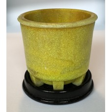 Copier graniver cactus pot yellow and original dish
