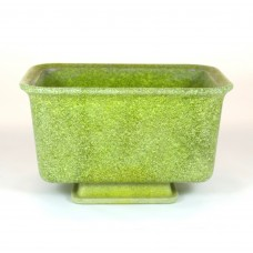 Copier graniver cactus pot yellow green rectangular with dish