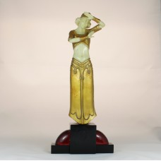 Art deco style statue by R.T. Pearce made of hand cast resin