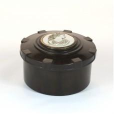 Bakelite box with cameo on screw lid