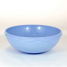 Blue colopal dish of pressed glass by Andries Copier