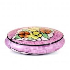 Bonbonniere Limoges porcelain, hand painted, Art Deco style