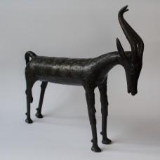 Bronze sculpture of a gazelle by Saliffou Ouedrago