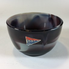 Sugar bowl of marmorite pressed glass by A.D. Copier, 1930's