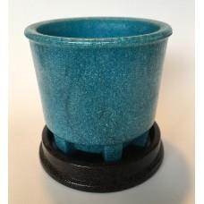 Copier graniver cactus pot blue and original dish