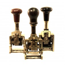 Set of 3 mechanical numerator stamp machines
