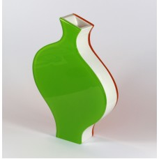 Italian design vase of plexi glass